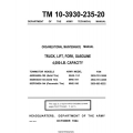 Towmotor 462SG4024-100-144 Solid Tire, MHE 191-190 TM 10-3930-235-20 Maintenance Manual 1964 $9.95