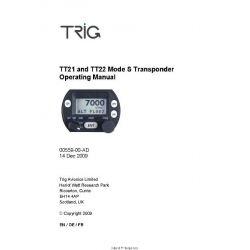Trig Avionics TT21 and TT22 Mode S Transponder Operating Manual