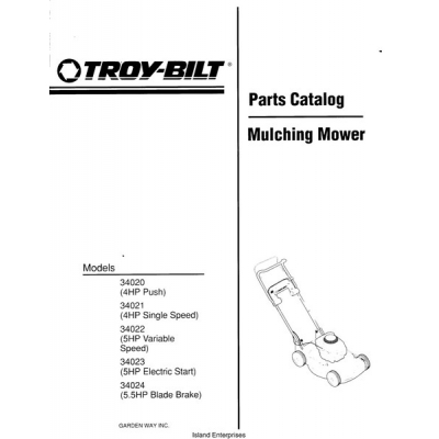 troy bilt push mower manual