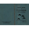 Typhoon Marks IA & 1B Sabre II or IIA Engine Pilot's Notes $2.95