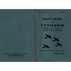 Typhoon Marks IA & 1B Sabre II or IIA Engine Pilot's Notes
