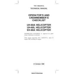 Sikorsky UH-60A/60L & EH-60A Helicopters Operator's and Crewmember's Checklist 1996 $4.95