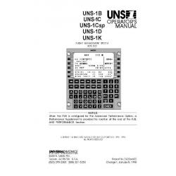 Universal UNS-1B,UNS-1C,UNS-1Csp,UNS-1D,UNS-1K Flight Management System Operators Manual 1998