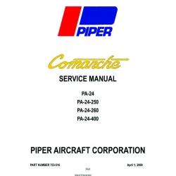 Piper Comanche PA-24 PA-24-250 PA-24-260-PA-24-400 Service Manual v2009 Part 753-516 $19.95