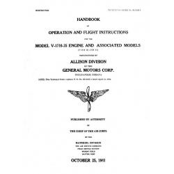 Allison V-1710-35 & 37 Handbook of Operation & Flight Instructions