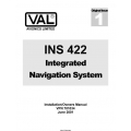 Val INS 422 Integrated Navigation System Installation/Owners Manual 2001  $4.95