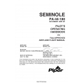 Piper PA-44-180 Seminole Pilot's Operating Handbook & FAA Approved Airplane Fight Manual VB-1616 $19.95