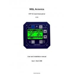 VHF V10 Air Band Transceiver User and Installation Manual 2009 $9.95