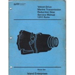 Borg Warner Velvet Drive 1.91:1 Ratio Marine Transmission Reduction Gear Service Manual $4.95