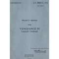 Vultee Aircraft Vengeance IV Target Tower Pilot's Notes 1945 $4.95