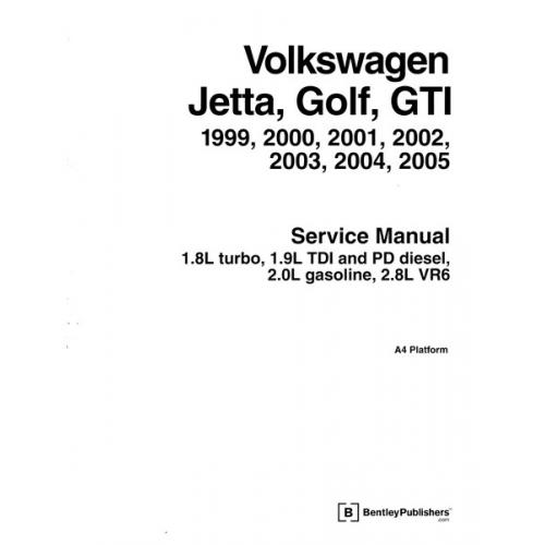 Volkswagen Jetta  Golf  Gti 1999 2000 2001 2002 2003 2004