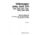 Volkswagen Jetta, Golf, GTI 1999,2000,2001,2002,2003,2004,2005 Service Manual $19.95