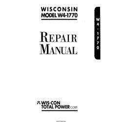 Wisconsin Model W4-1770 Engine Repair Manual