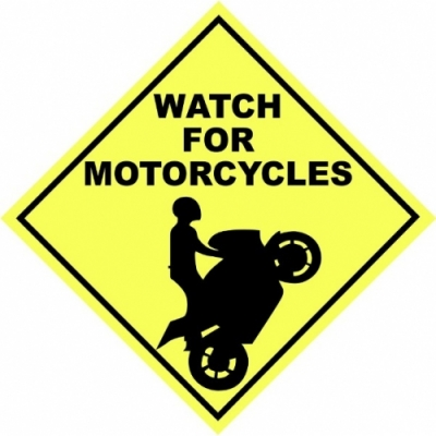 Watch for Motorcycles! Decal/Stickers!