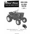 Wheel Horse 867 Lawn and Garden Tractors Six Speed Owners Manual