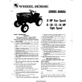 Wheel Horse 8 HP Four Speed and 8,10,12,14 HP Eight Speed Owners Manual