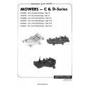 Wheel Horse C and D Series Mowers Lawn & Garden Tractors Parts Manual