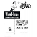 Wheel Horse RJ 58-59 Yard and Garden Tractor Instruction Manual & Parts List