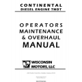 Wisconsin Continental Diesel Engine TMDT TTP10148 Operator's Maintenance & Overhaul Manual 2006 $9.95