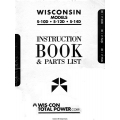 Wisconsin S-10D, S-12D, S-14D Instruction Book and Parts List 1985 $9.95