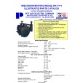 Wisconsin Motors Model W4-1770 Illustrated Parts Catalog