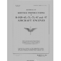 Wright Aircraft Engine R-1820-65 and -71 -73 -87 -97 Handbook of Service Instructions  $13.95