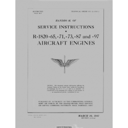 Wright Aircraft Engine R-1820-65 and -71 -73 -87 -97 Handbook of Service Instructions