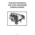 Continental Model E-165, E-185 AND E-225 Series Aircraft Engine Overhaul Manual X-30016_1970 $13.95
