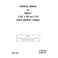 Continental Overhaul Manual X-30016 E-165, -185 & E-225