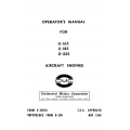Continental Operators Manual X-30018 E-165, E-185 & E-225 $13.95