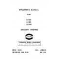 Continental Operators Manual X-30018 E-165, E-185 & E-225