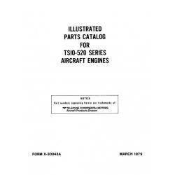 Continental Parts Catalog X-30043A TSIO-520 Series $13.95