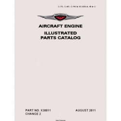 Continental C-75, C-85, C-90 & 0-200-A, B & C ILLUSTRATED PARTS CATALOG X30011 $19.95