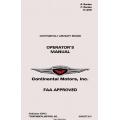 Continental A Series C Series 0-200  Operators Manual X30012  $19.9500