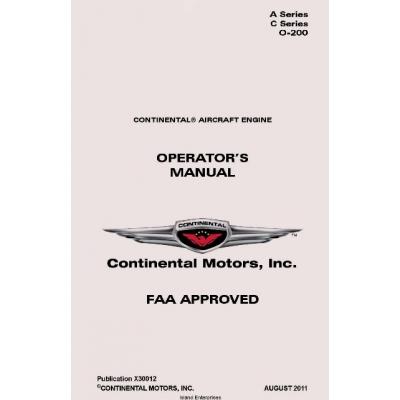 Continental A Series C Series 0 200 Operators Manual X30012 19 9500
