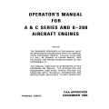 Continental Operators Manual X30012 O-200 A & C Series $13.95