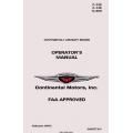 Continental C-125, C-145, O-300 Operator's Manual  2011 X30015