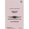 Continental Operator's Manual E-165, E-185, E-225 X30018 $19.95