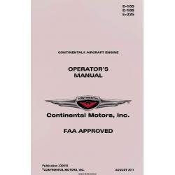 Continental Operator's Manual E-165, E-185, E-225 X30018