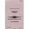 Continental Operator's Manual GO-300 2011  X-30021
