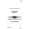 Continental 10-470 Operators Manual X30024 $ 19.95