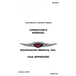 Continental 10-470 Operators Manual X30024 $ 19.95