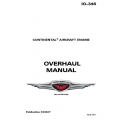 Continental Overhaul Manual  I0-346 X30027 $19.95