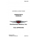 Continental  TSIO-470 Operators Manual 2011 X30035 $19.95