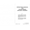 Continental IO-520-A, B, C, D, E, F, J, K, L, & M Series Operators Manual X30041 $13.95