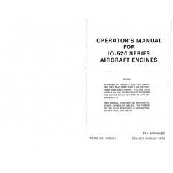 Continental IO-520-A, B, C, D, E, F, J, K, L, & M Series Operators Manual X30041
