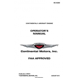 Continental IO-520 Operators Manual  2011 X30041 $19.95