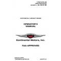 Continental Operators Manual TSIO-520- AE X30044 $19.95