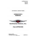 Continental  O-470-A, B, E G, J, K L, M, R S & U Operators Manual2011 X30097 $19.95