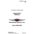 Continental Operators Manual TSIO-520-L & LB WB X30505 $19.95